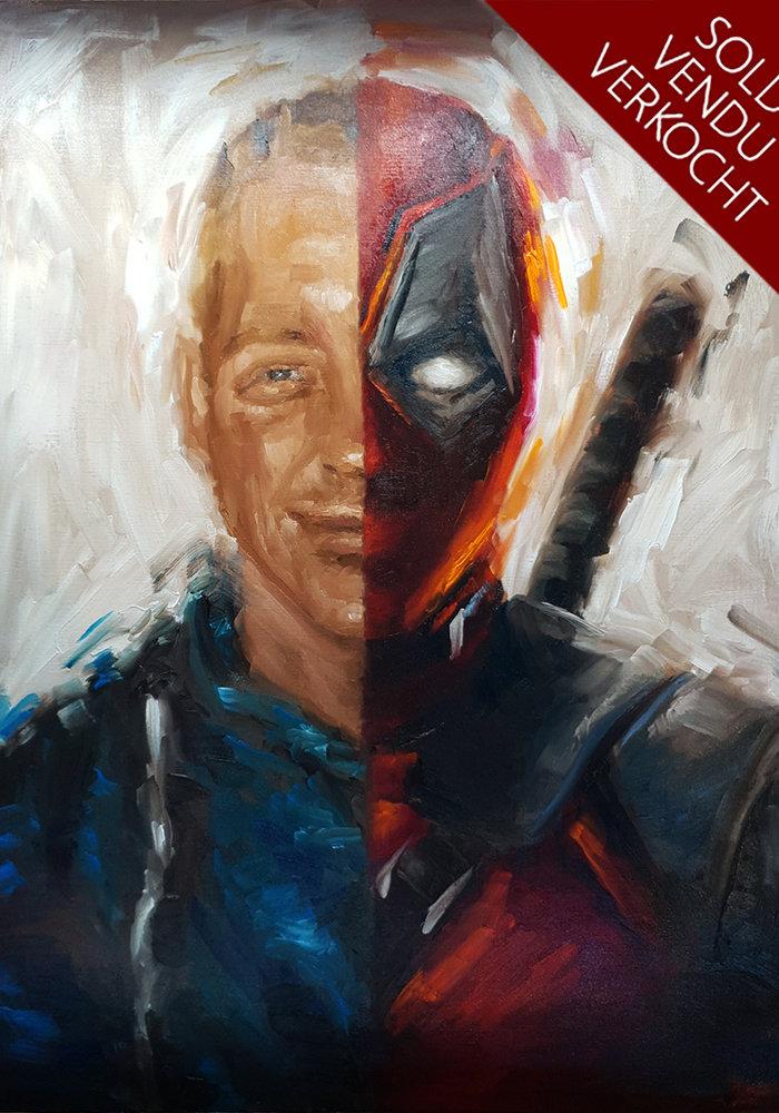 YouTube Olie Schilderij Deadpool gemaakt door Isabel