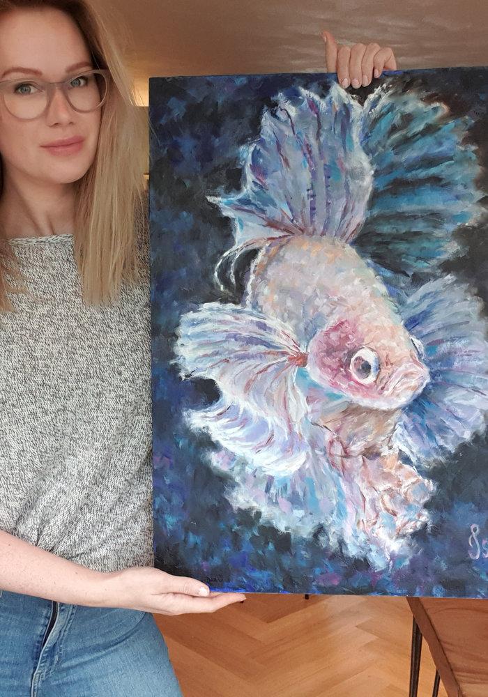 Olie Schilderij Kempvis gemaakt door Isabel