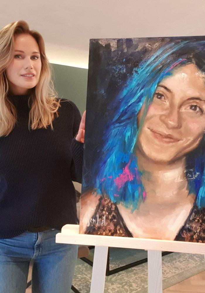 YouTube Olie Schilderij Francesca gemaakt door Isabel