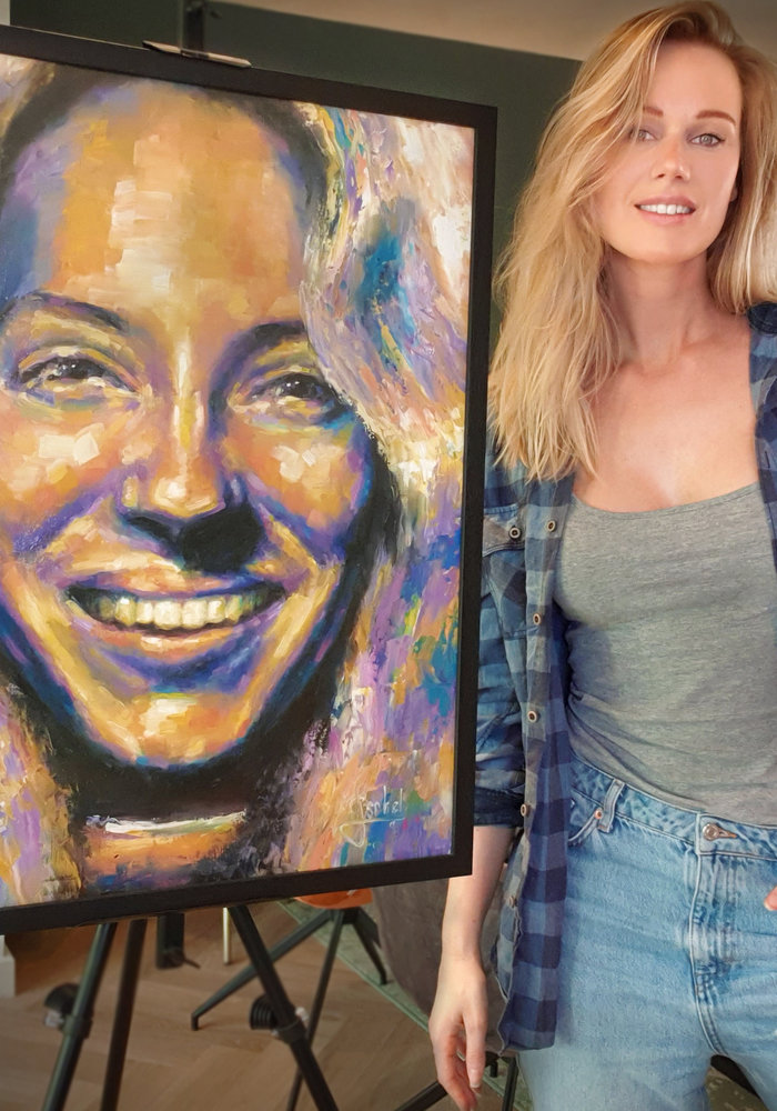 Youtube Oil Painting Adequate ASMR made by Isabel