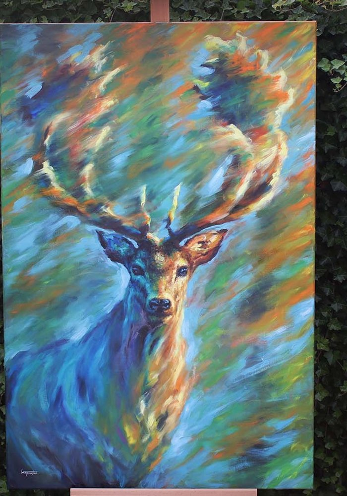 Oil Painting deer made by Isabel