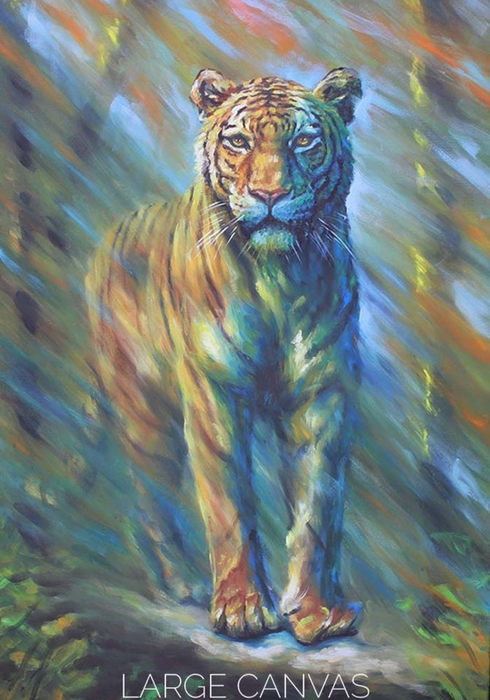 Oil Painting tiger made by Isabel