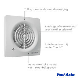 Vent-Axia Vent-Axia  Supra / Badkamerventilator