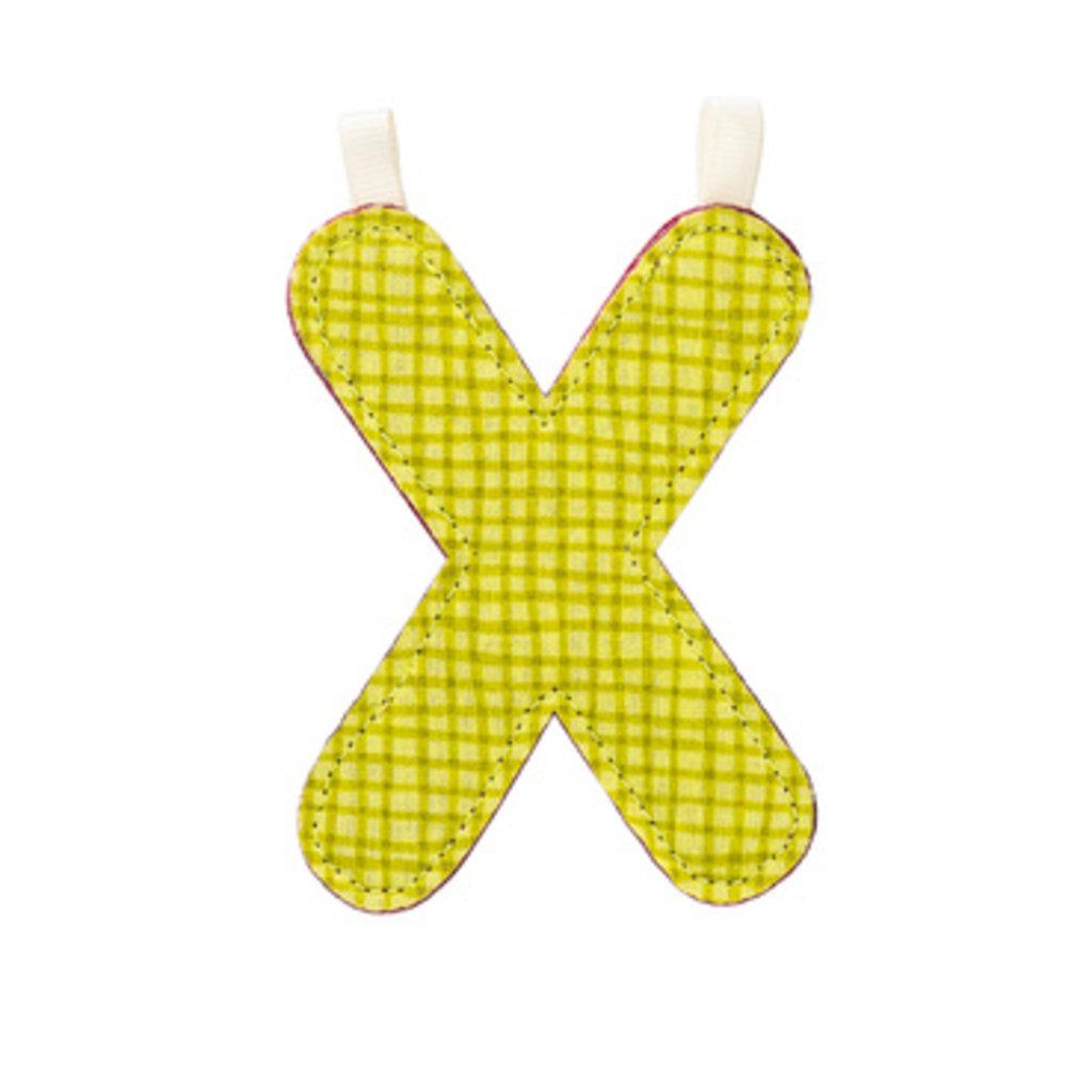 Lilliputiens Lilliputiens Fabric Letter X