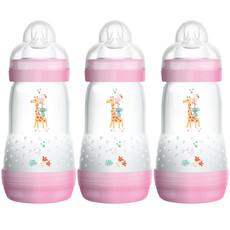 Mam Mam Easy Start Anti-Colic Bottle 260ml 3pk Pink