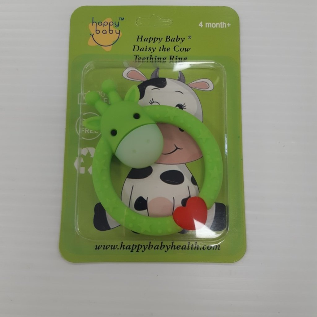 Happy Baby Daisy The Cow Teething Ring 4m+