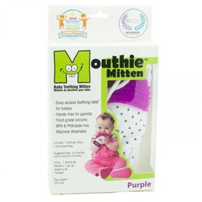 Mouthie Mitten Purple