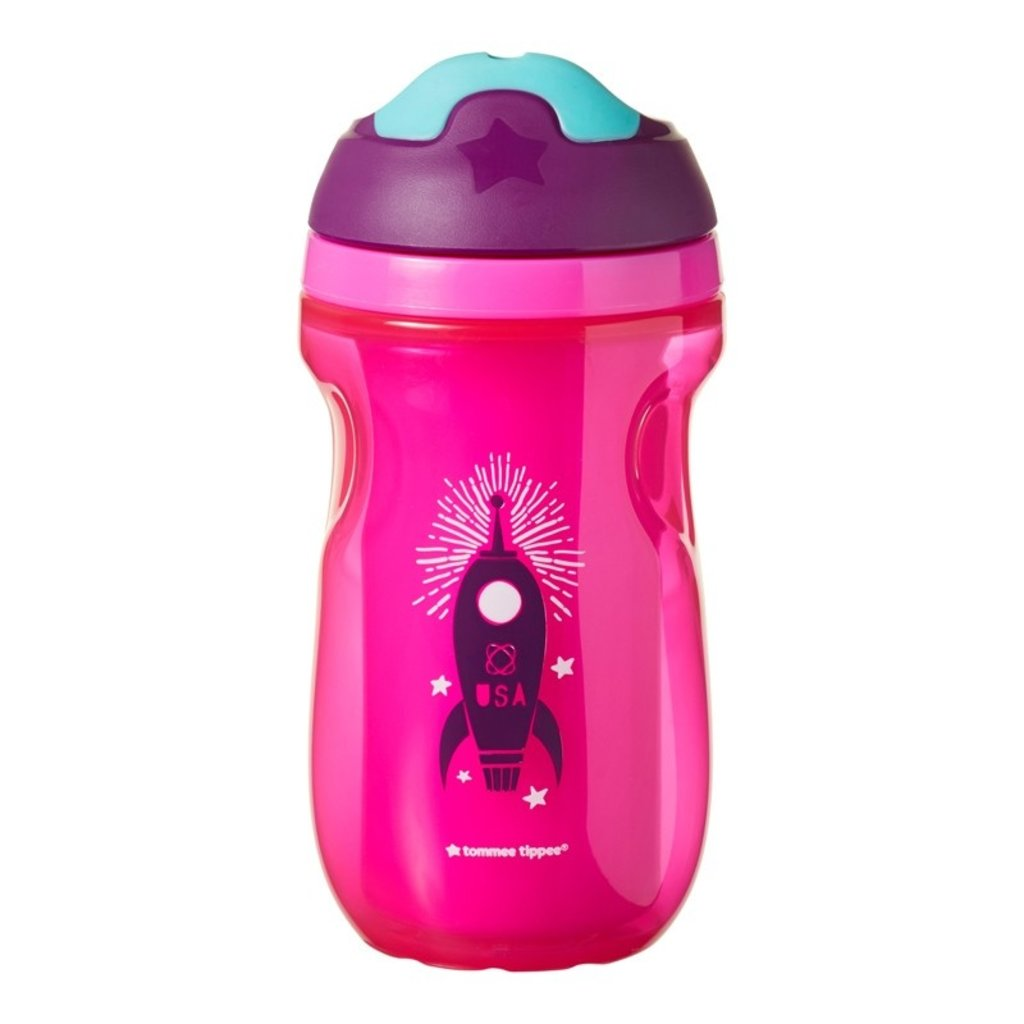 Tommee Tip Insulated Active Cup Girl 12m