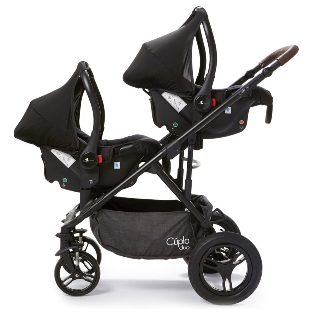 Baby Elegance Cupla Duo Twin Travel System  Charcoal
