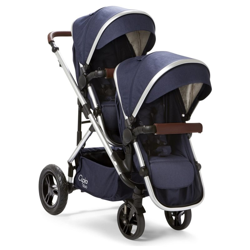 Baby Elegance Cupla Duo Twin Travel System Navy