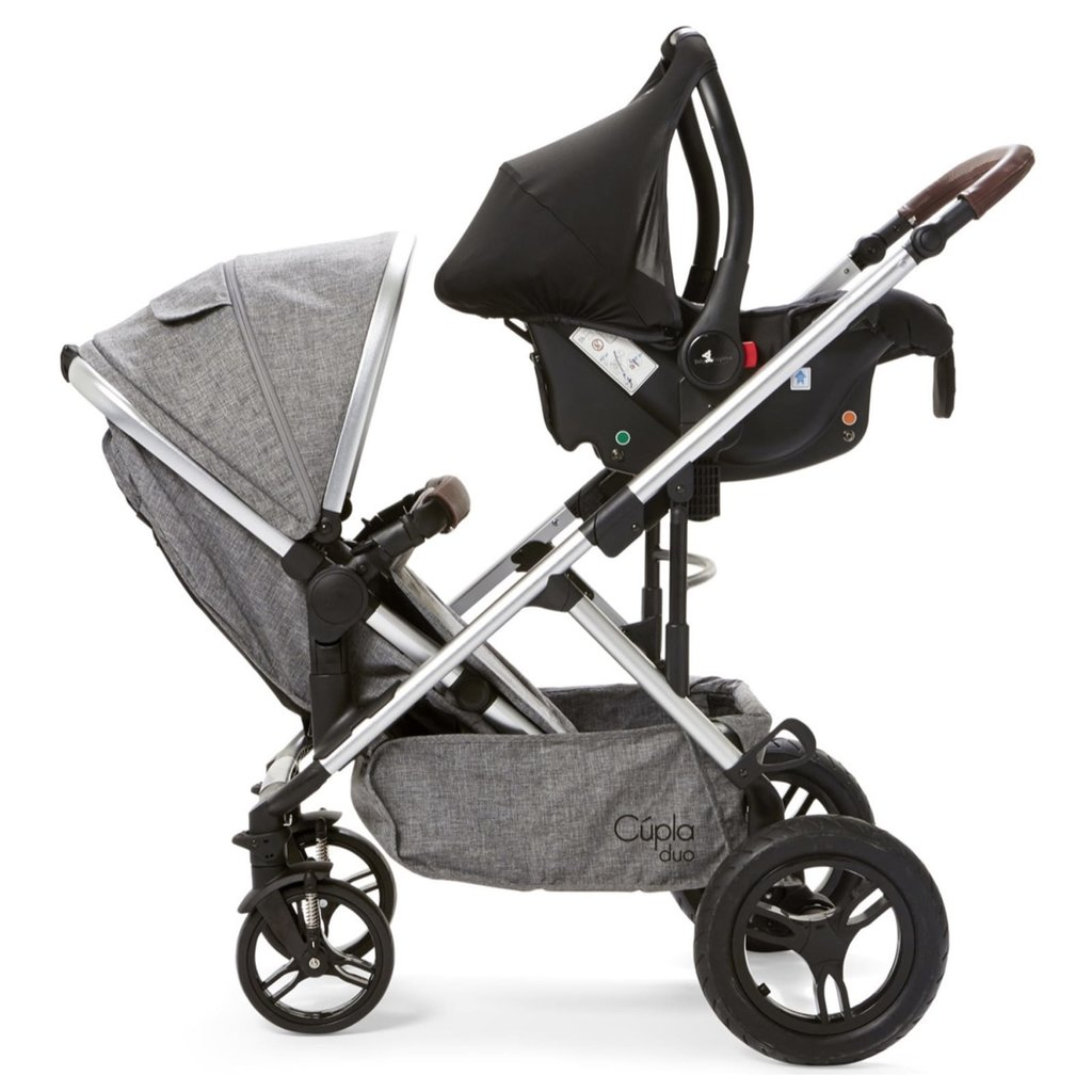 Baby Elegance Cupla Duo Twin Travel System Grey