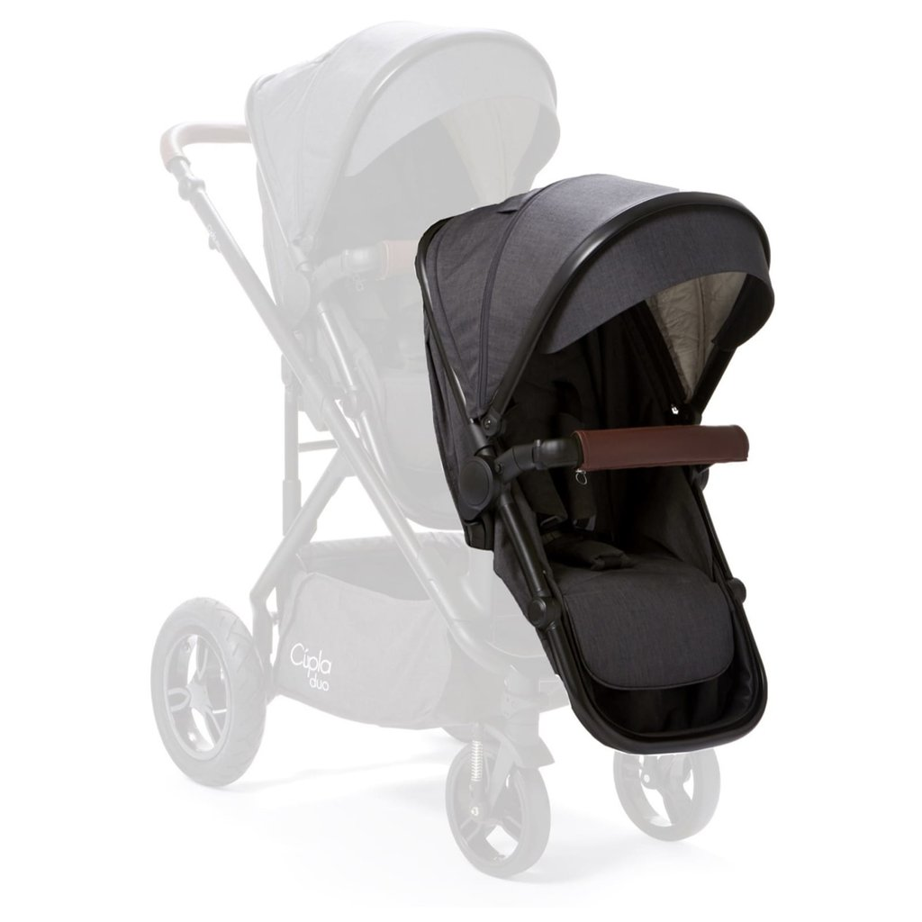 Baby Elegance Cupla Duo Second Seat w Rain Cover Charcoal