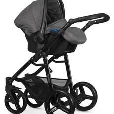 Venicci Venicci Soft Edition Denim Grey w Black Chassis