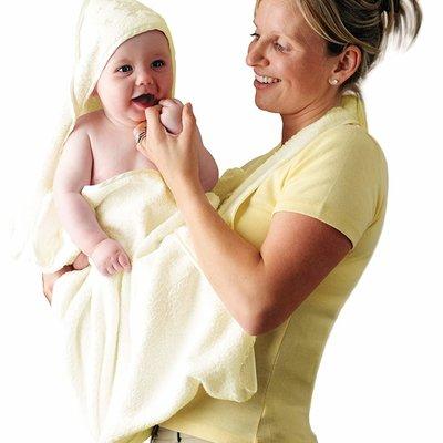 Clevamama ClevaMama Apron Baby Bath Towel Cream