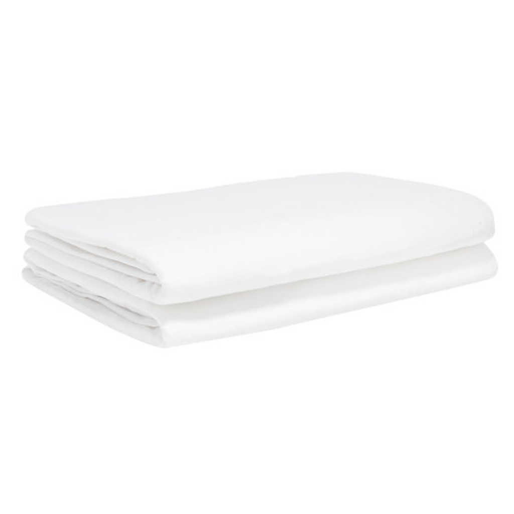 Baby Elegance 2 Pack Travel Cot Fitted Sheet - White