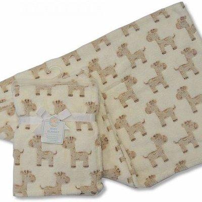 Baby Blanket 75 x 100cm Cream Giraffe