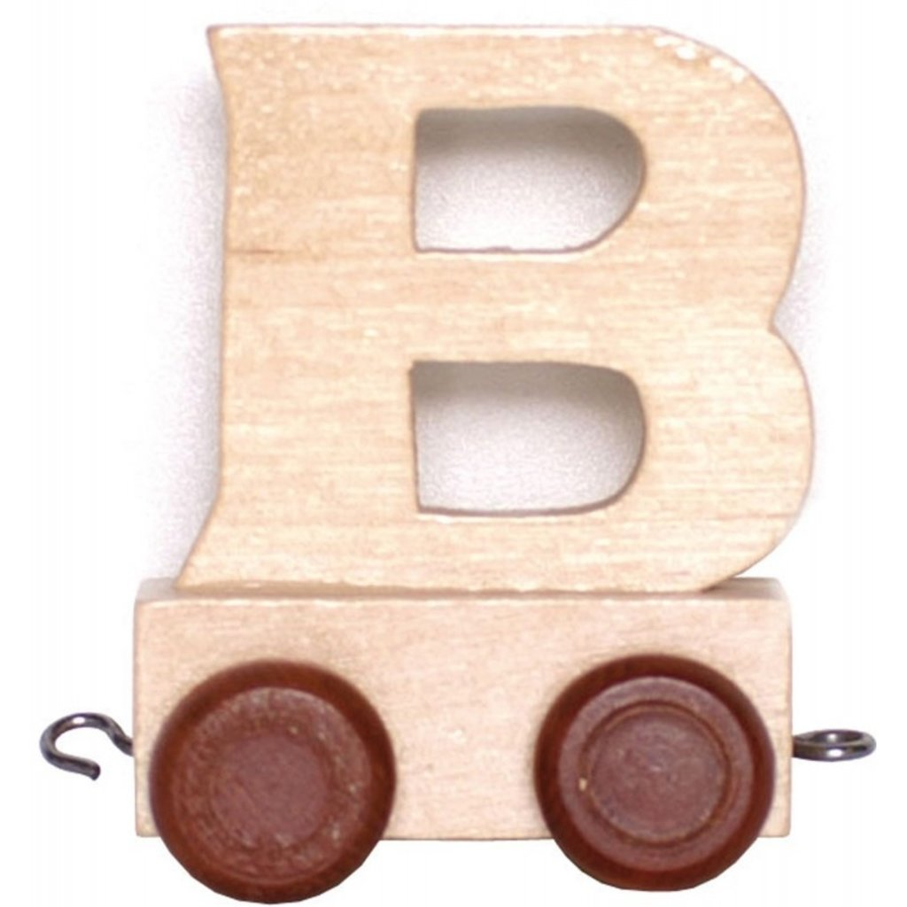 Natural Train Letters - B