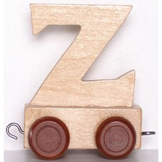 Natural Train Letters - Z
