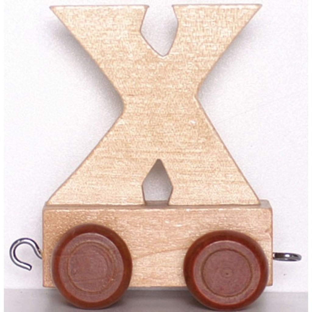 Natural Train Letters - X