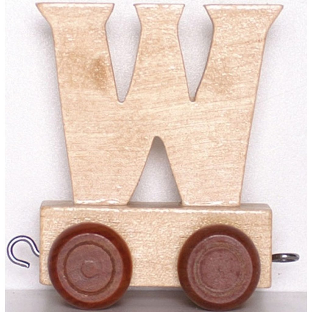 Natural Train Letters - W
