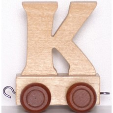 Natural Train Letters - K