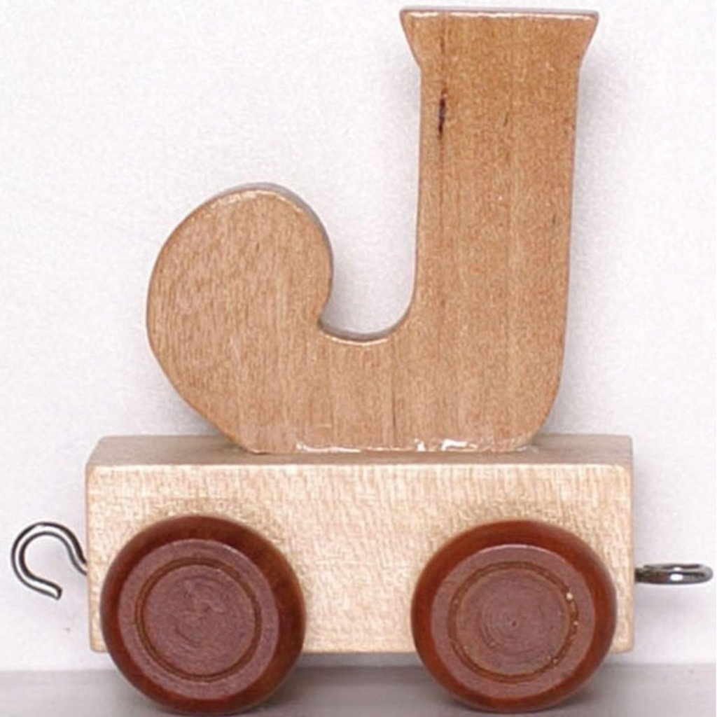 Natural Train Letters - J