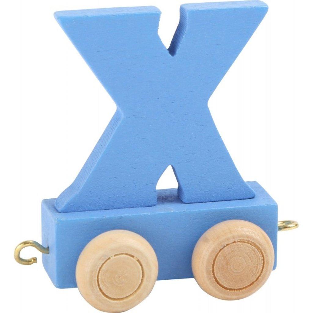 Coloured Train Letters - X