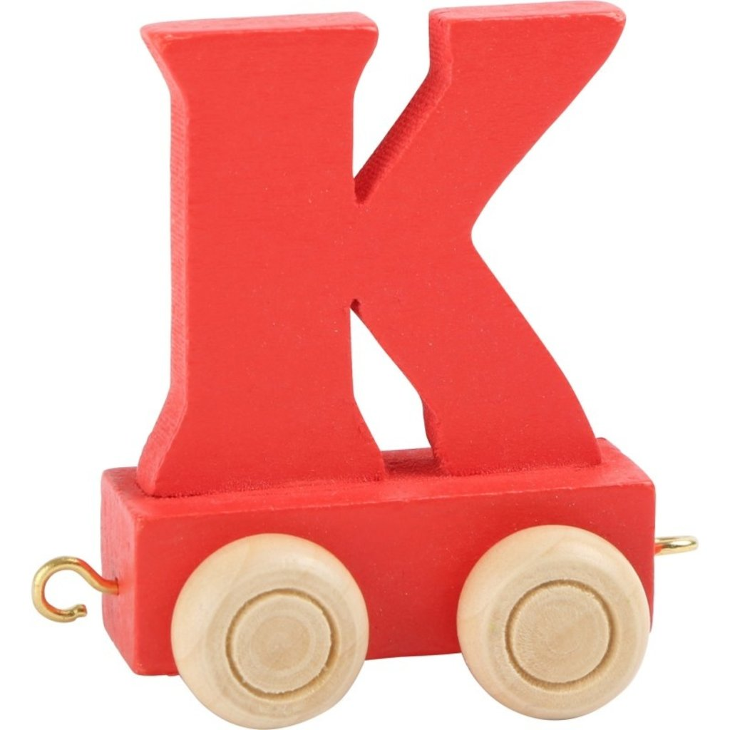 Coloured Train Letters - K