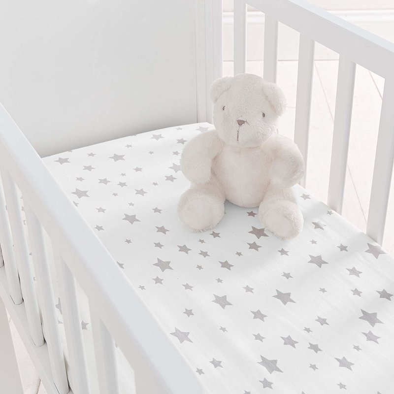 Baby Elegance Baby Elegance 2 Pack Crib Fitted Sheets - Grey Star