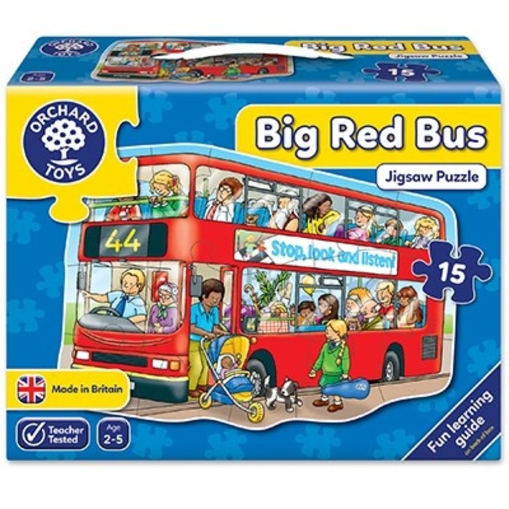 Orchard Orchard Toys Big Red Bus Jigsaw