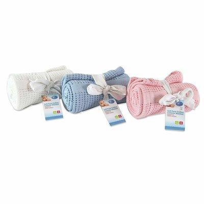 Blue & Pink Pire Cotton Cellular Blanket