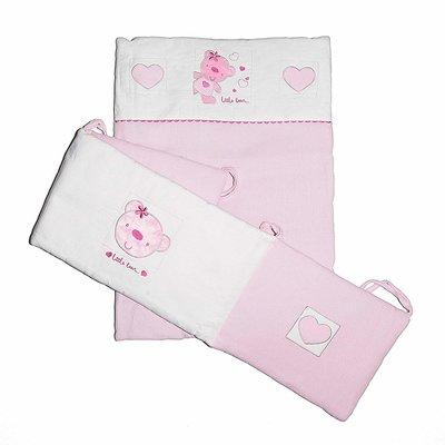 Baby Elegance Star Ted Pink Crib Set