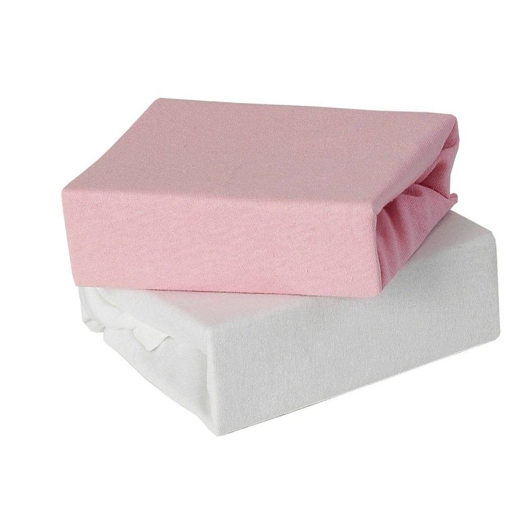 Baby Elegance 2 Pack Cot Fitted Sheets - Pink