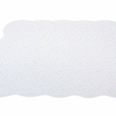 SILVER CLOUD COUNTING SHEEP COVERLET