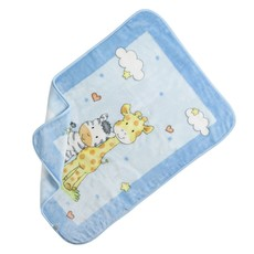Jungle Buddies Fleece Blanket - Blue