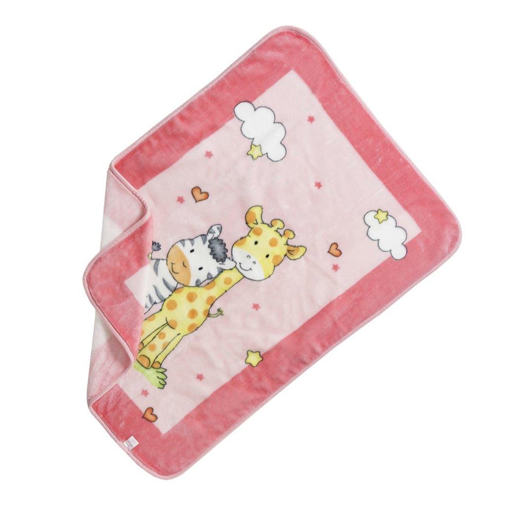 Jungle buddie Fleece Blanket - Pink