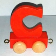 Coloured Train Letter - C