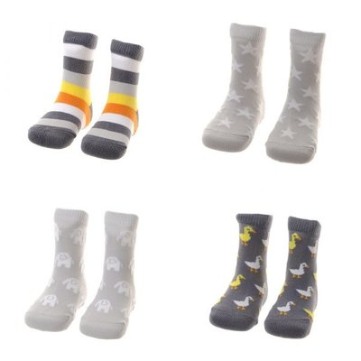 Ziggle socks 0-6 months grey