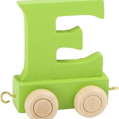 Coloured Train Letter - E