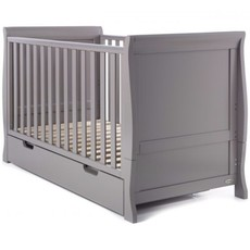Stamford Sleigh Mini Cot Bed - Taupe Grey