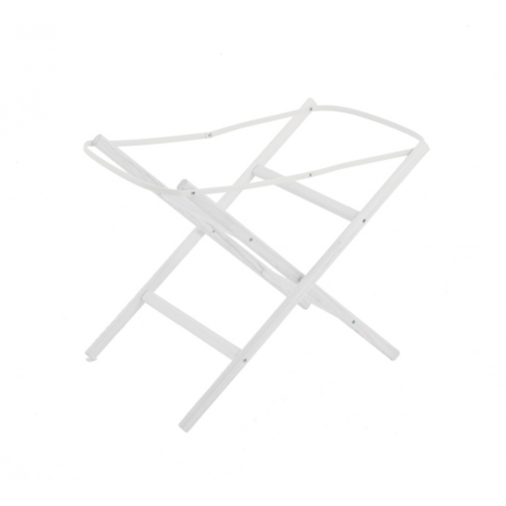 Moses Basket Stand White Static