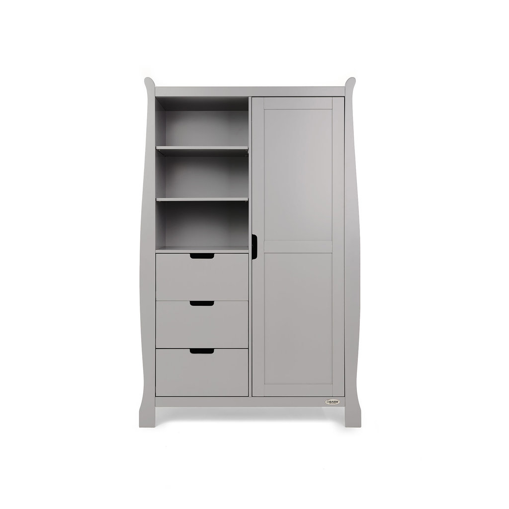 Stamford Double Wardrobe - Warm Grey