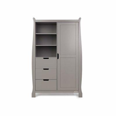 Stamford Double Wardrobe - Taupe Grey