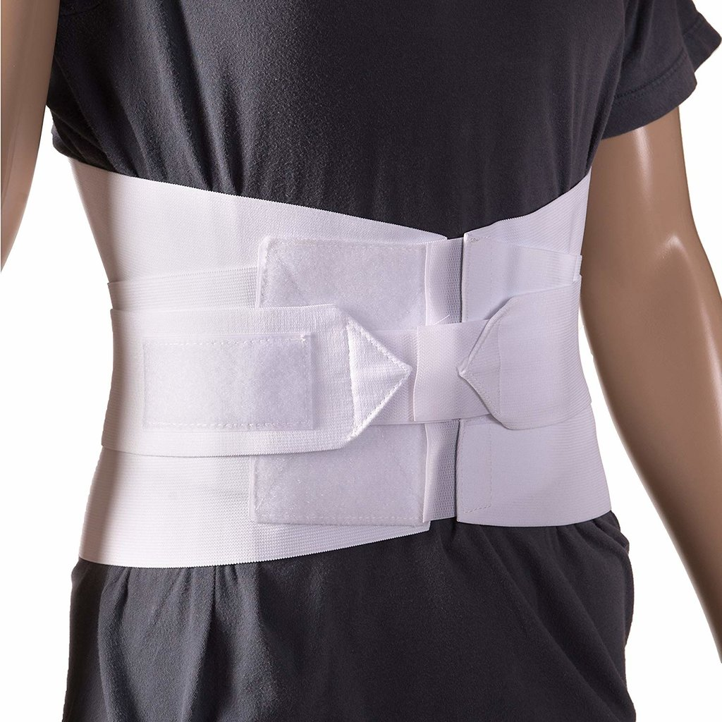 Adj Support Belt White - size Small