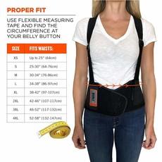 Adj Support Belt Black - size Medium