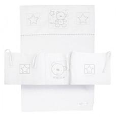 Baby Elegance Star Ted White Crib Set