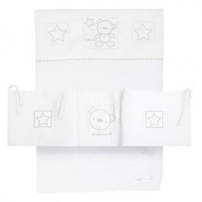 Star Ted White Crib Set