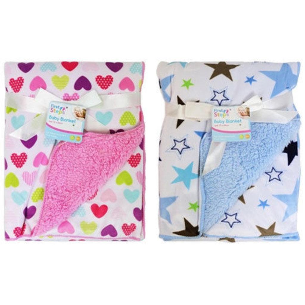 Baby Soft Blanket - Hearts/Stars