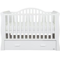 Br nursery Oslo Sleigh Cot Bed White