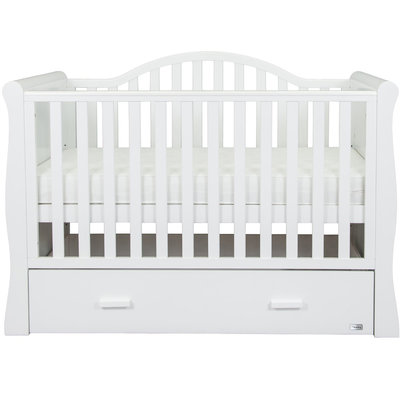 Br nursery Oslo Sleigh Cot Bed White